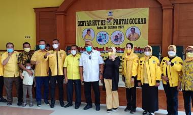 Sambut HUT ke-57, DPD Partai Golkar Provinsi Gorontalo Gelar Vaksinasi dan Donor Darah