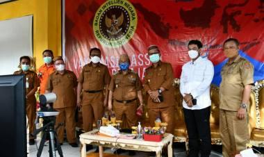 Bupati Gorut Bersama Wabup Tinjau Vaksinasi di SMA 1 Kwandang