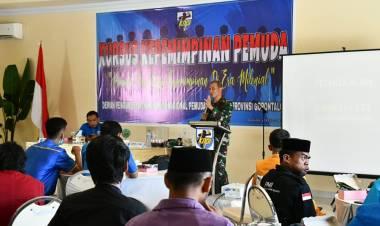Danrem 133/NW Bekali Para Pemuda di Acara KNPI Provinsi Gorontalo