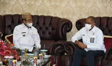 Bupati Indra Yasin Terima Kunker BPK RI Perwakilan Gorontalo