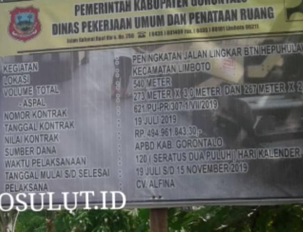 Kadis Pu Syamsul Baharudin Beri Peringatan Keras Pada CV. ALFINA