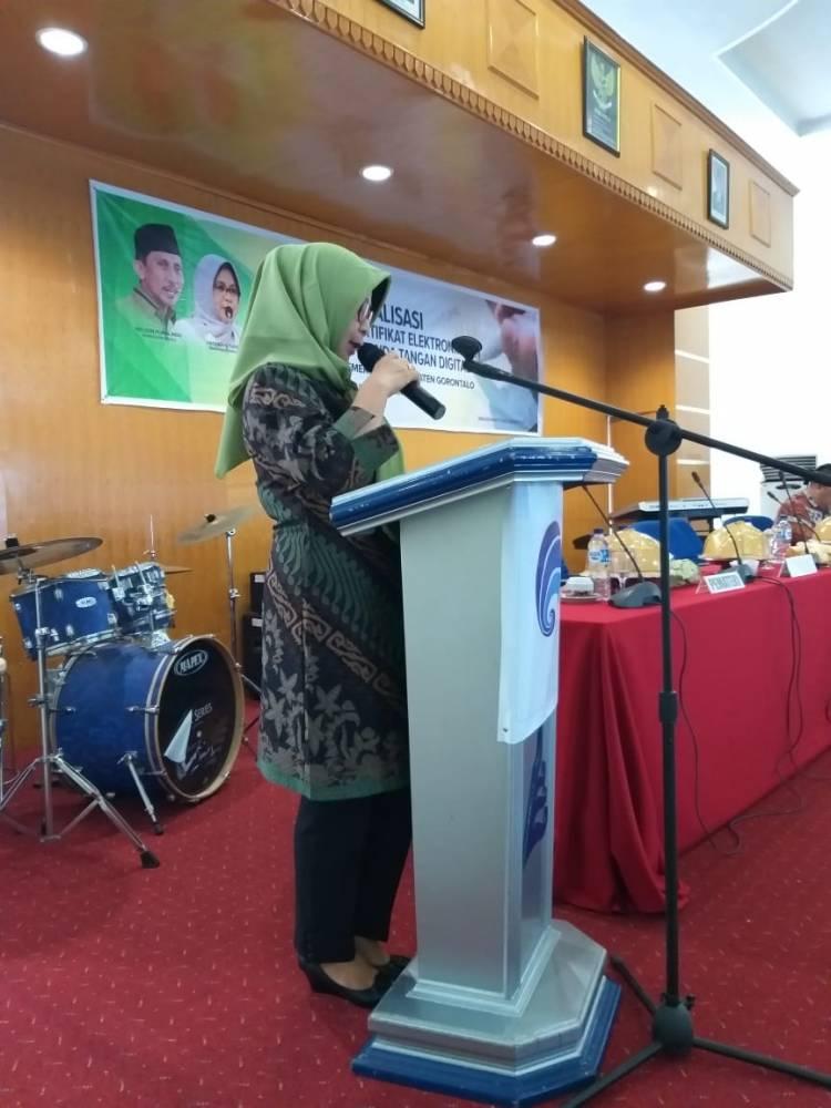 Sekda Kabupaten Gorontalo Menutup Sosialisasi Penerapan Sertifikat Dan Tanda Tangan Elektronik