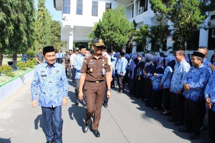 Pemkab Gorontalo Apel Korpri Bersama Jajaran Kajari Kabupaten Gorontalo