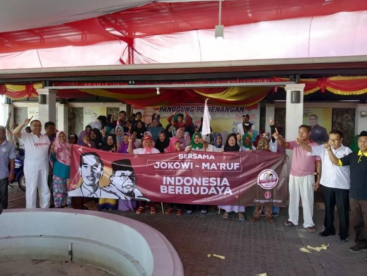 Jenggala Center Gorontalo Back Up Kampanye Jokowi- Ma'ruf Amin