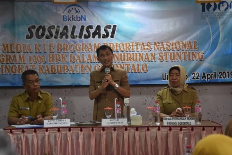 Pemerintah Kabupaten Gorontalo Terus Sosialisasikan Stunting