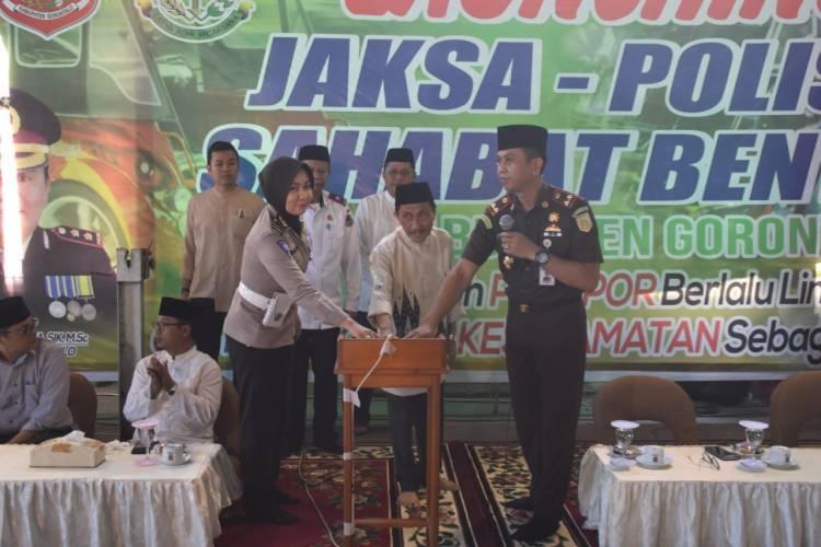 Jaksa Dan Polisi Jadi Sahabat Abang Bentor Untuk Kemajuan Kabupaten Gorontalo