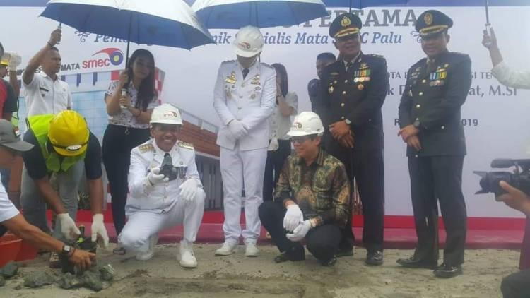 Peletakan Batu Pertama Rumah Sakit Mata SMEC Oleh Walikota Palu