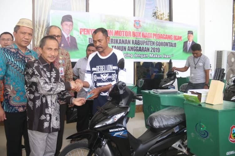 Tak Lagi Pakai Sepeda, Kini Pedagang Ikan Di Kabgor Jajakan Jualan Pakai Motor Box