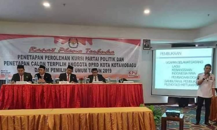 KPU Kotamobagu Gelar Pleno Penetapan Caleg Terpilih Periode 2019-2024