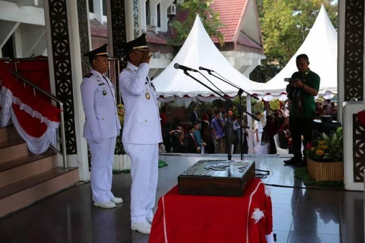 Walikota Palu Jadi Inspektur Upacara HUT RI Ke 74