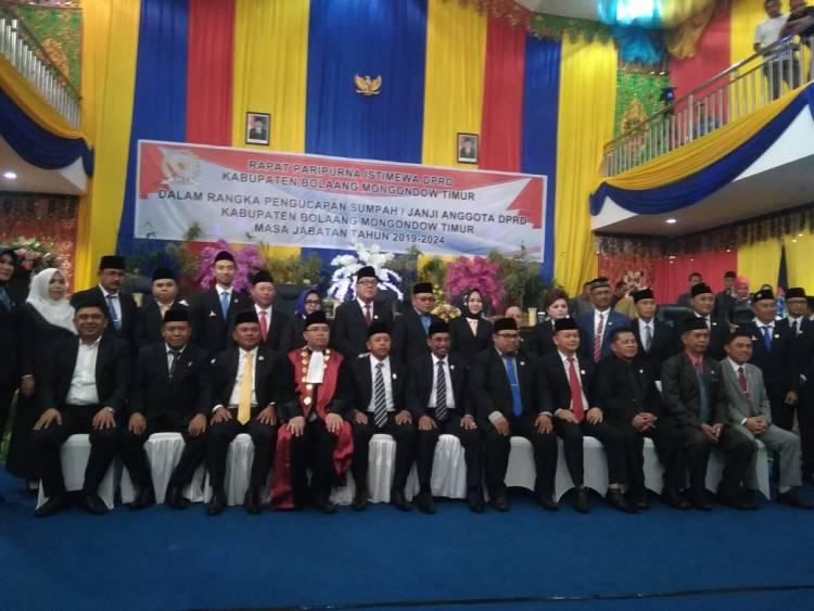 20 Anggota DPRD Boltim Dilantik
