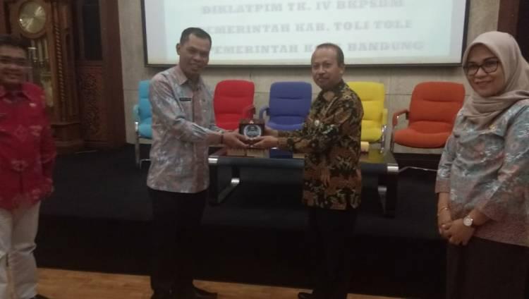Peserta Diklat PIM IV Tolitoli Banchmarking Di Bandung