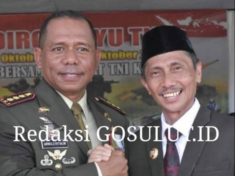 Ucapkan Selamat HUT TNI Ke-74, Bupati Nelson Pomalingo Ajak TNI Berkolaborasi Untuk Bangun Daerah