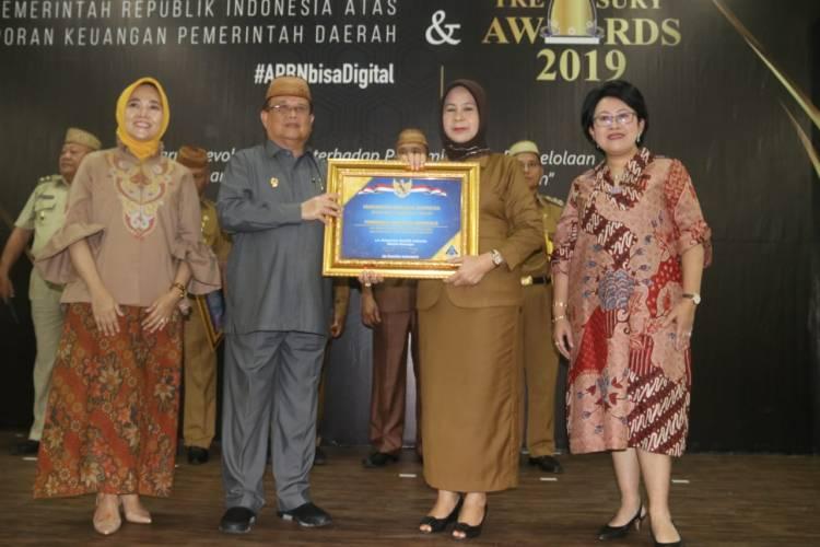 Penghargaan Opini WTP Dirangkaikan Dengan Penganugerahan Treasury Awards  2019 Untuk Kabupaten Gorontalo
