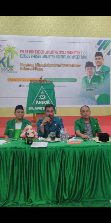 Bupati Sehan Landjar Jadi Pemateri Dalam PKL Dan Susbalan GP Ansor Sulut