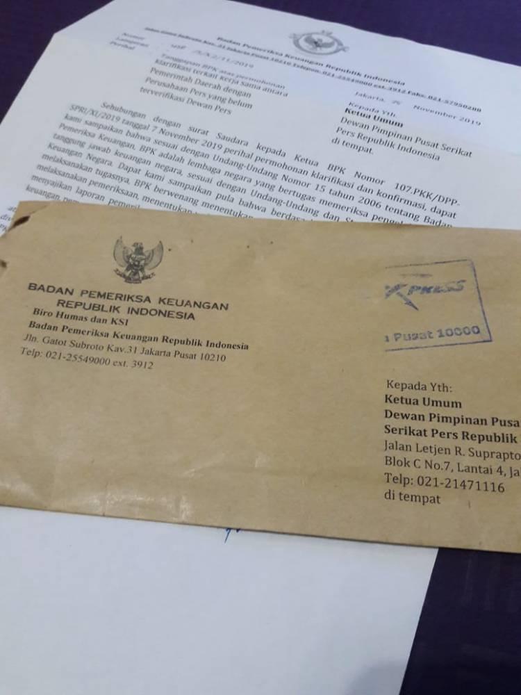 SPRI : BPK RI Tidak Pernah Gunakan Verifikasi Media Dewan Pers