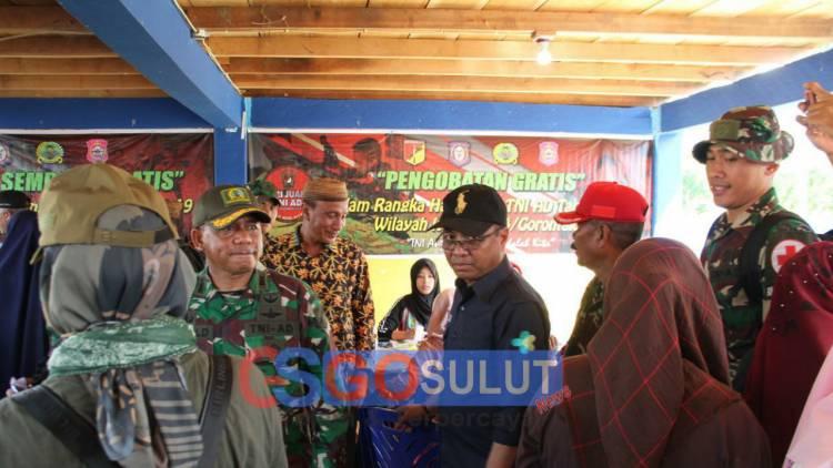 Kodim 1304 Gorontalo Gelar Kegiatan Bakti Sosial Di Kecamatan Pinogu