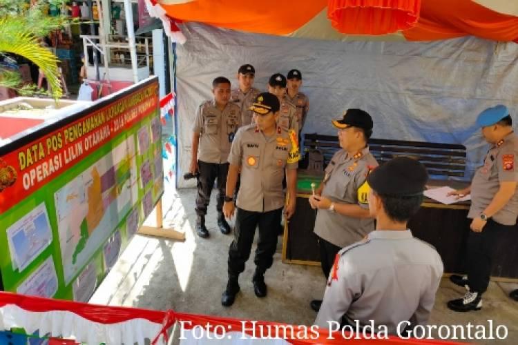 Kapolda Cek Pos Pengamanan Wilayah Pohuwato, Antisipasi Kamtibmas Jelang Tahun Baru