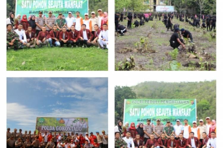 Polda Tanam 1500 Pohon di Boalemo, Sukseskan Program Polri Peduli Penghijauan