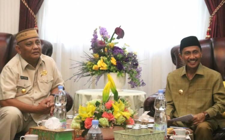 Bupati Nelson Pomalingo Kordinasikan Hasil Kunjungan Di Jakarta Pada Gubernur Gorontalo