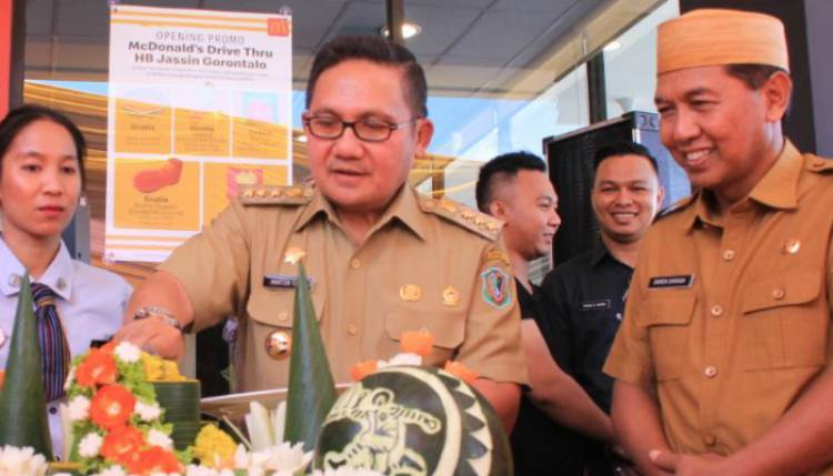 McDonald's Hadir Gorontalo, Darda Daraba : Pertanda Perkembangan Ekonomi Daerah Semakin Baik