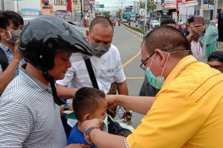 F-PG Inisiatif Bagi Masker Gratis, Fikram: Bantu Pemerintah Cegah Corona