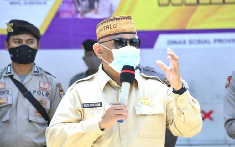 Peringatan Keras Untuk Semua, Gubernur Gorontalo : Masyarakat Tak Gunakan Masker Jangan Dilayani