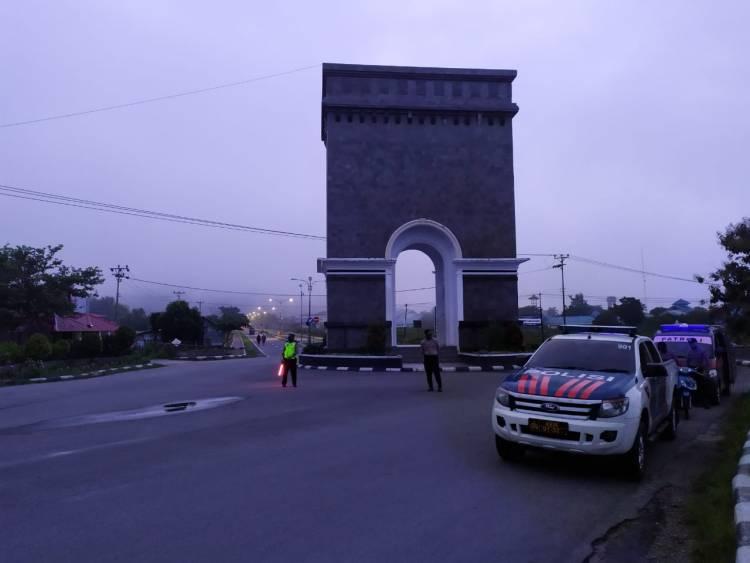 Polres Bone Bolango Lakukan Patroli Di Center Point