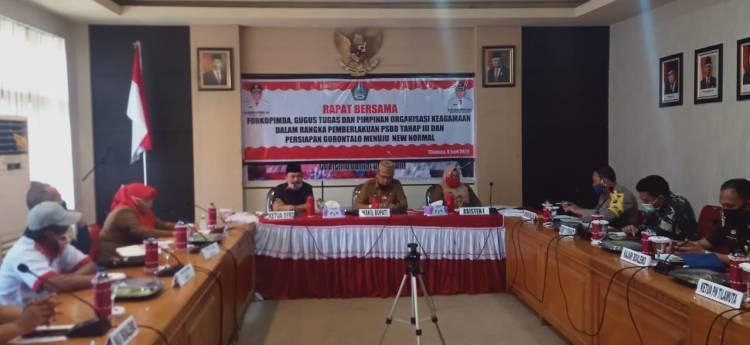 Hadiri Rapat Menuju New Normal, Ketua DPRD Boalemo Eka Putra Sampai Ini!