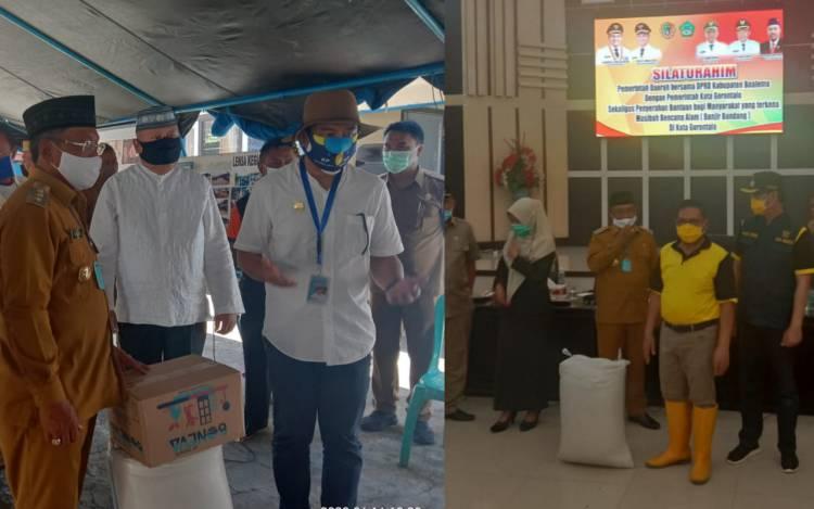 Peduli Bencana Alam, Bupati Darwis Salurkan Bantuan Bagi Warga Bonbol dan Kota Madya