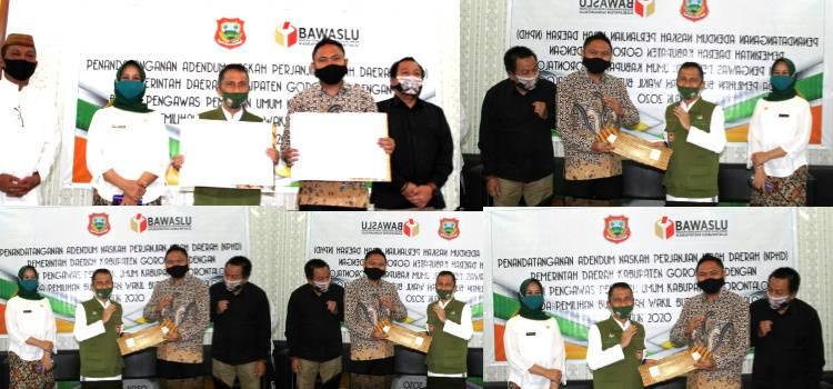 Bawaslu Dan Pemerintah Kabupaten Gorontalo Resmi Tanda Tangani Addendum NPHD Pilkada 2020