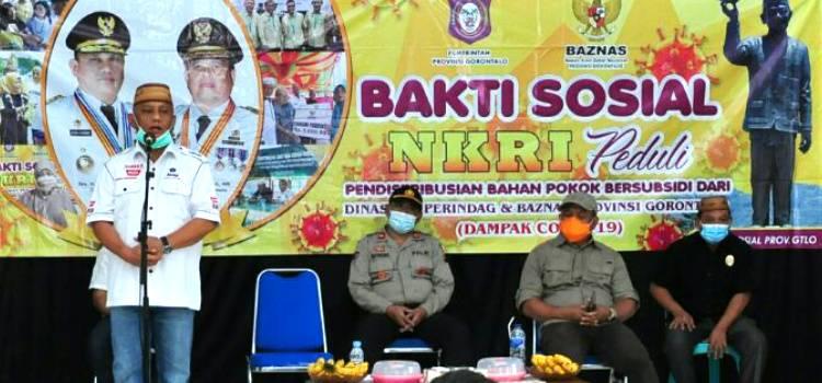 Baksos  NKRI Dimasa Covid 19  Telah Mampu Melayani 67.127 KPM di Provinsi Gorontalo