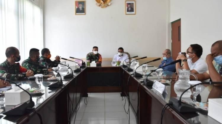 Komisi I Kunjungan Kerja ke Korem 133/Nani Wartabone