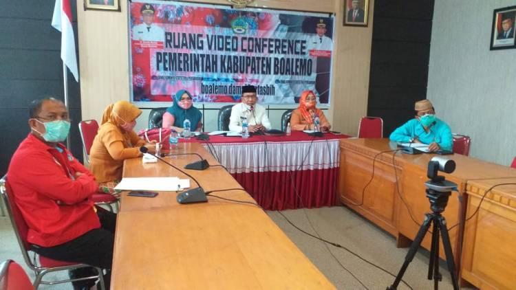 Melalui Video Conference, Wabup Anas Jusuf, Sampaikan Kondisi Penyebaran Covid-19 Kepada Gubernur