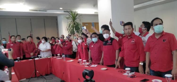 PDIP Deklarasikan Andrei Angouw Dan Richard Sualang Untuk Bertarung Di Pilwako Kota Manado