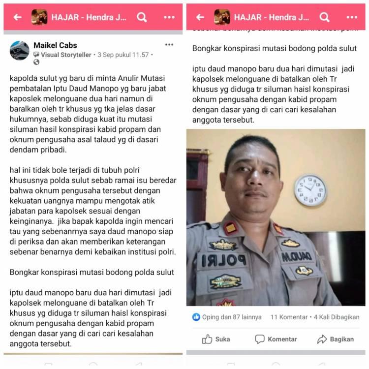Tak Terima Namanya Dicatut, Daud Manopo Laporkan Akun Facebook Maikel Cabs