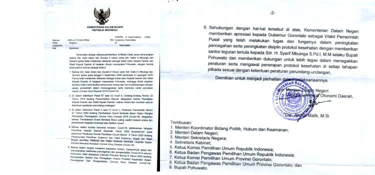 Ketegasan Gubernur Gorontalo Diapresiasi Mendagri