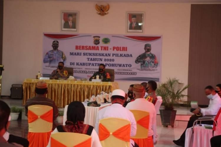 Bersama Kapolda Kunker Ke Pohuwato, Danrem 133/NW Cek Kesiapan Pilkada dan Operasi Yustisi