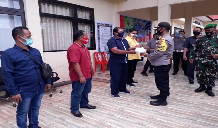 Kapolres Kepulauan Talaud Launching Program Sejuta Masker Polda Sulut