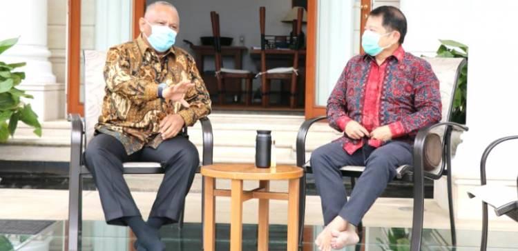 Gubernur Gorontalo Temui Menteri PPN/Kepala Bappenas Suharso Monoarfa di Bogor