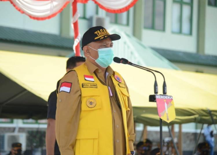 Gubernur Gorontalo Memimpin Apel Kesiapsiagaan Antisipasi Bencana Alam
