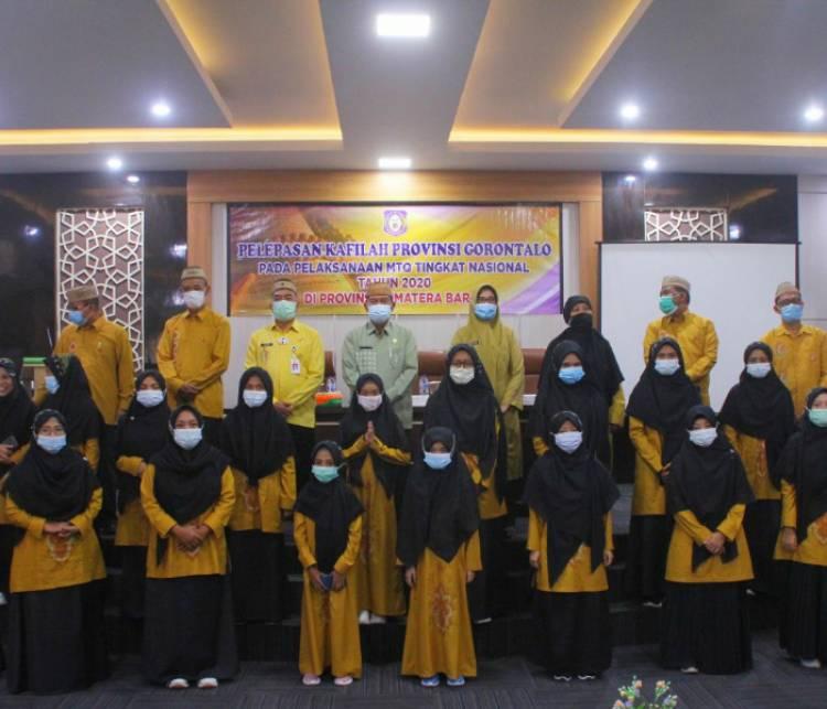 """MTQ Nasional ke-28"", Sekdaprov Gorontalo Lepas Kafilah Musabaqah Tilawatil Qur'an (MTQ) dari Provinsi Gorontalo"