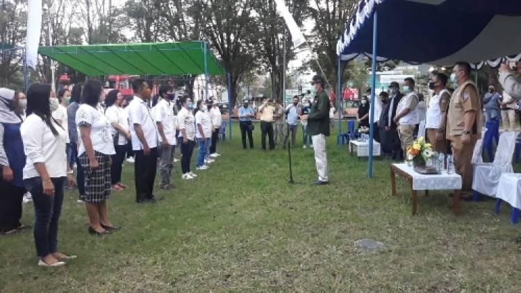 Walikota Manado Lantik 126 Personil Tim Gugus Penanganan Covid-19 Kecamatan Tikala
