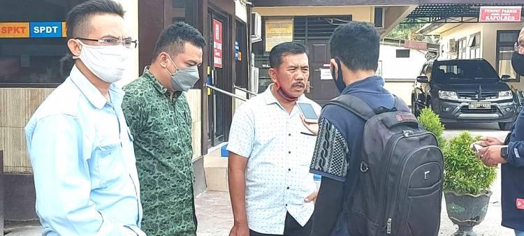 EW Didampingi LBH Limboto Datangi Polres Gorontalo Kota Pertanyakan Proses Kasus HST dan VA