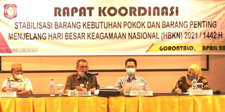 Wagub Gorontalo : Stok Sembako Aman Jelang Ramadan