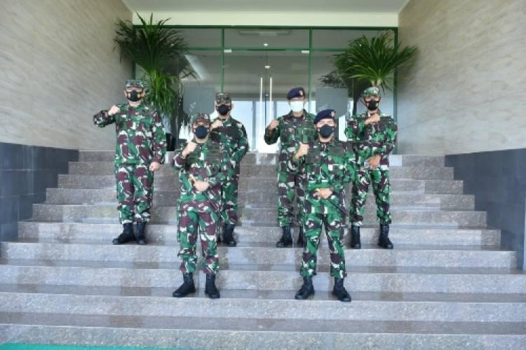 Kerjasama Jaga Keamanan Laut, Pangdam XIII/Merdeka Terima Audiensi Danguskamla Koarmada II