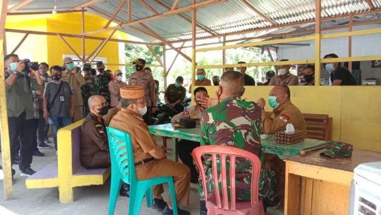 Bupati Gorut Dampingi Gubernur Gorontalo, Kapolda, Serta Danrem 133/NW Tinjau Pos Perbatasan