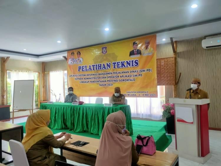 Sekdaprov Gorontalo Membuka Pelatihan SIM-PD  2021