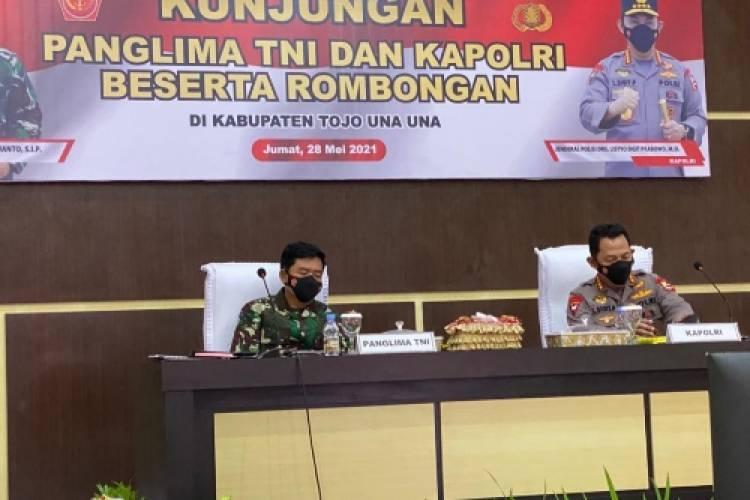 Panglima TNI dan Kapolri Motivasi Satgas Madago Raya, Negara Tak Akan Kalah dari Teroris
