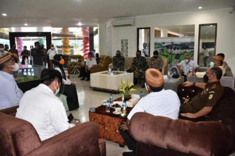 Kasrem 133/NW Meninjau Lokasi Karantina Terpusat Covid-19 di Provinsi Gorontalo